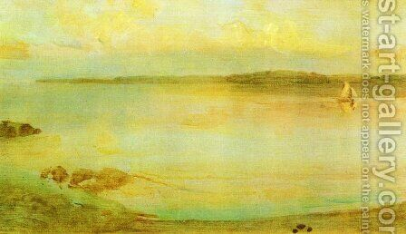 Gray and Gold - The Golden Bay by James Abbott McNeill Whistler - Reproduction Oil Painting