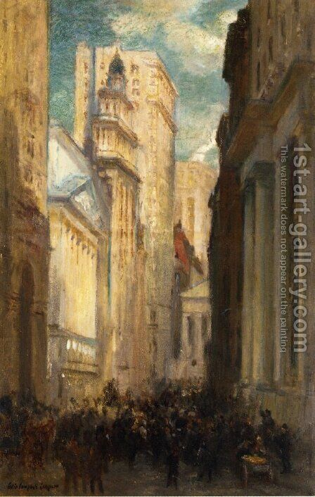 Wall Street by Colin Campbell Cooper - Reproduction Oil Painting