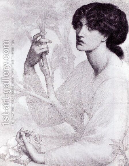 The Day Dream I by Dante Gabriel Rossetti - Reproduction Oil Painting