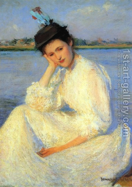Portrait of a Lady by Edmund Charles Tarbell - Reproduction Oil Painting