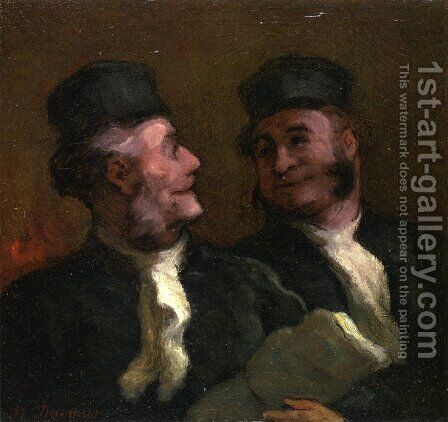 The Lawyers by Honoré Daumier - Reproduction Oil Painting