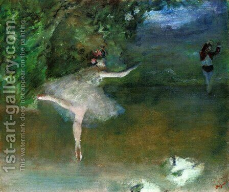 Les Pointes by Edgar Degas - Reproduction Oil Painting