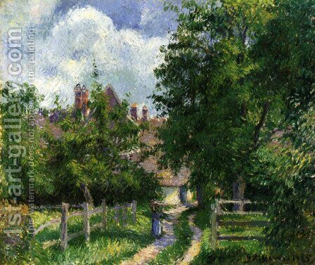 Neaufles-Sant-Martin, near Gisors by Camille Pissarro - Reproduction Oil Painting