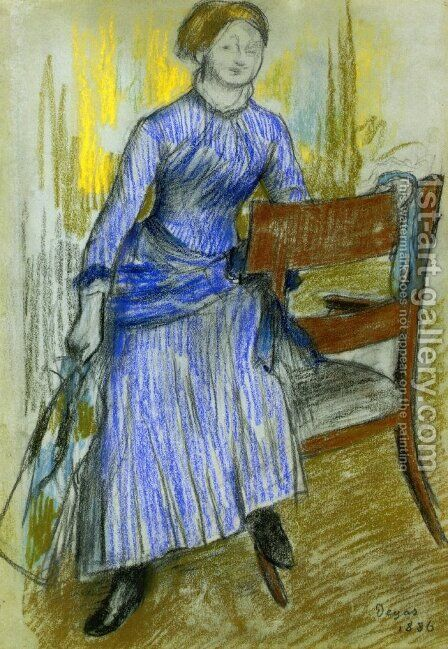 Helene Rouart (Mme. Marin) by Edgar Degas - Reproduction Oil Painting