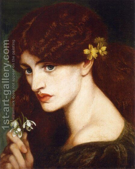 Blanzifiore by Dante Gabriel Rossetti - Reproduction Oil Painting