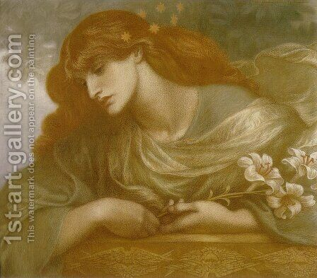 The Blessed Damozel - Study I by Dante Gabriel Rossetti - Reproduction Oil Painting