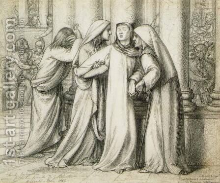 The Virgin Mary Being Comforted by Dante Gabriel Rossetti - Reproduction Oil Painting
