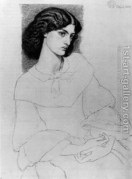 Jane Burden, aged 18 by Dante Gabriel Rossetti - Reproduction Oil Painting