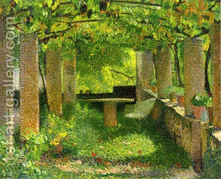 The Arbour by Henri Martin - Reproduction Oil Painting