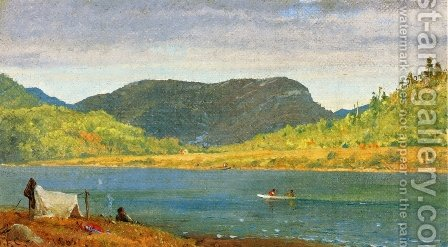 Greenwood Lake II by Jasper Francis Cropsey - Reproduction Oil Painting