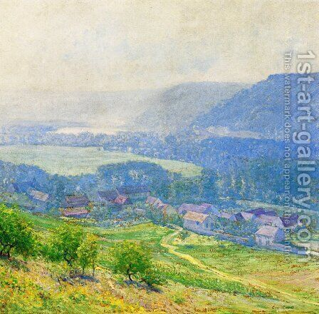 The Saine Valley, Giverny by Guy Rose - Reproduction Oil Painting