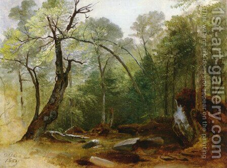 Study in the Woods by Asher Brown Durand - Reproduction Oil Painting