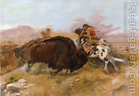 Meat for the Tribe by Charles Marion Russell - Reproduction Oil Painting
