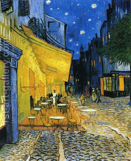 Cafe Terrace on the Place du Forum by Vincent Van Gogh - Reproduction Oil Painting