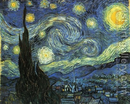 The Starry Night by Vincent Van Gogh - Reproduction Oil Painting