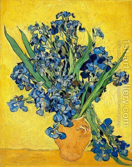 Still Life with Irises by Vincent Van Gogh - Reproduction Oil Painting
