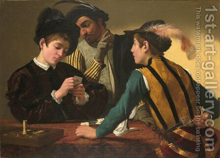 The Cardsharps (I Bari) by Caravaggio - Reproduction Oil Painting