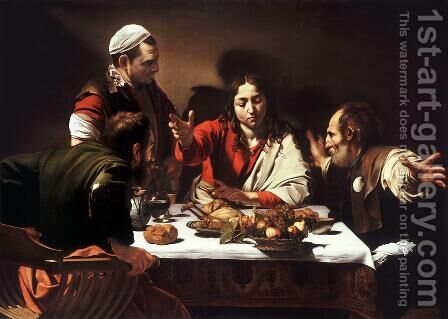 Supper at Emmaus by Caravaggio - Reproduction Oil Painting