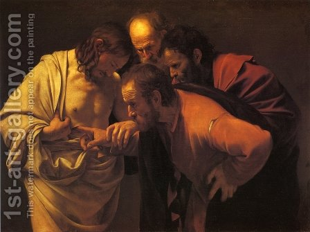 Doubting Thomas by Caravaggio - Reproduction Oil Painting