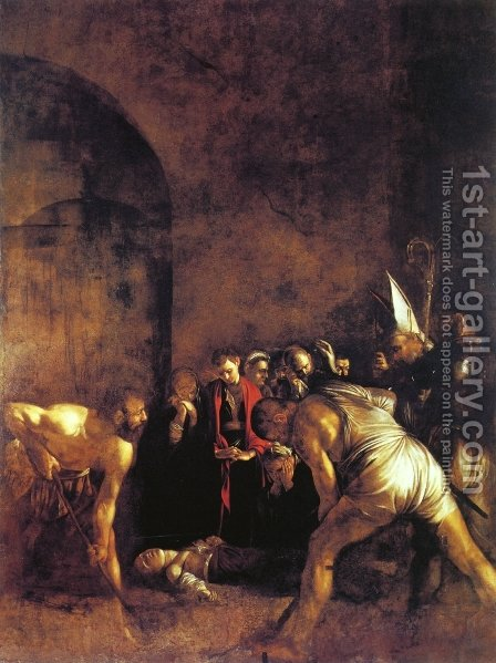 The Burial of St. Lucy by Caravaggio - Reproduction Oil Painting