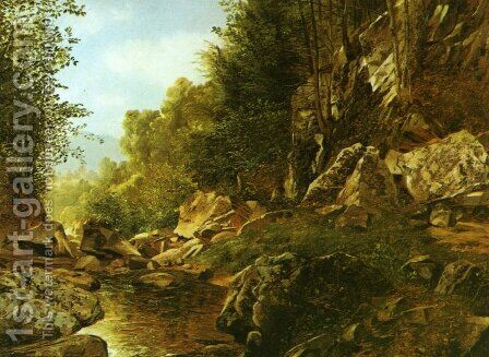 In the Catskills by Alexander Helwig Wyant - Reproduction Oil Painting