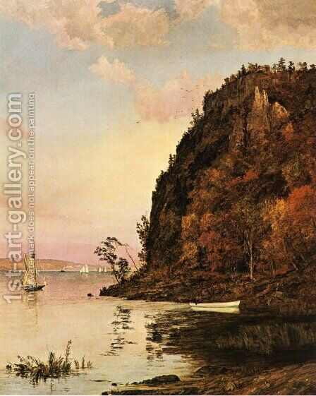 Under the Palisades, in October by Jasper Francis Cropsey - Reproduction Oil Painting