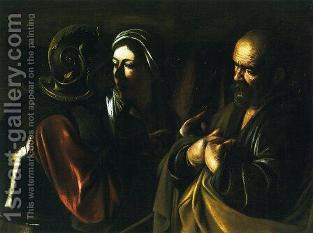 The Denial of St. Peter by Caravaggio - Reproduction Oil Painting