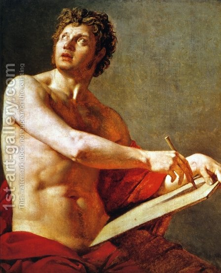 Academic Study of a Male Torse by Jean Auguste Dominique Ingres - Reproduction Oil Painting