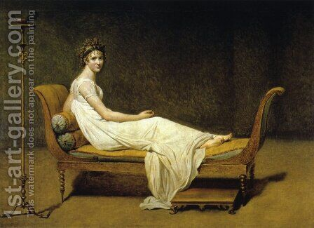 Juliette Recamier by Jacques Louis David - Reproduction Oil Painting