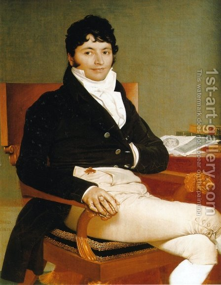 Philbert Riviere by Jean Auguste Dominique Ingres - Reproduction Oil Painting