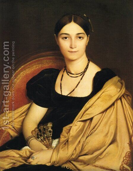 Antonia Duvaucey de Nittis by Jean Auguste Dominique Ingres - Reproduction Oil Painting