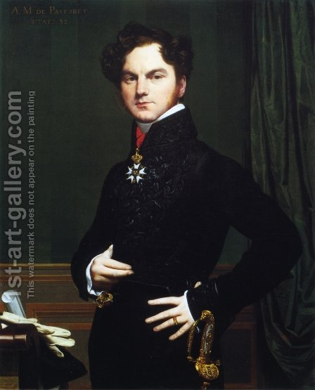 Comte Amedee-David de Pastoret by Jean Auguste Dominique Ingres - Reproduction Oil Painting