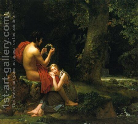 Daphnis and Chloe by Baron Francois Gerard - Reproduction Oil Painting