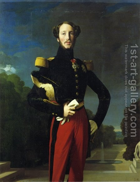 Duke Ferdinand-Philippe of Orleans I by Jean Auguste Dominique Ingres - Reproduction Oil Painting