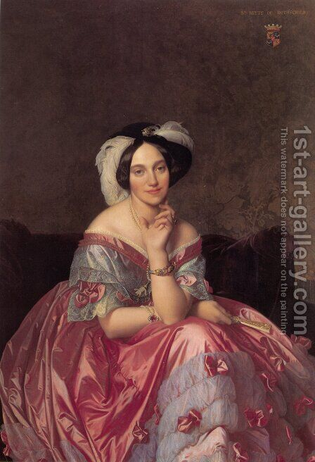 Baronesss Betty de Rothschild by Jean Auguste Dominique Ingres - Reproduction Oil Painting