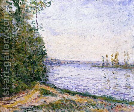 The Seine near By by Alfred Sisley - Reproduction Oil Painting