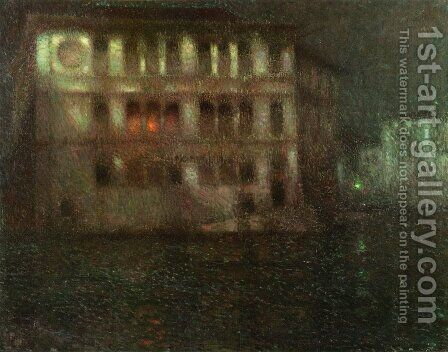 The Old Palace, Moonlight, Venice by Henri Eugene Augustin Le Sidaner - Reproduction Oil Painting