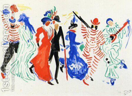 Figures from a Carnival by Andre Derain - Reproduction Oil Painting