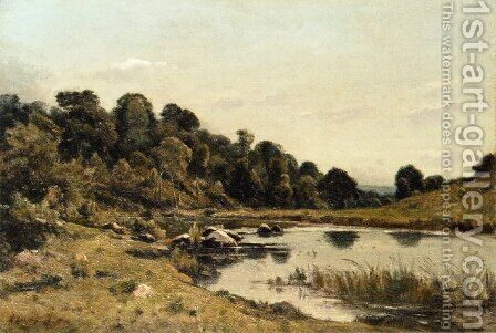 The Banks of the Aumance by Henri Joseph Harpignies - Reproduction Oil Painting