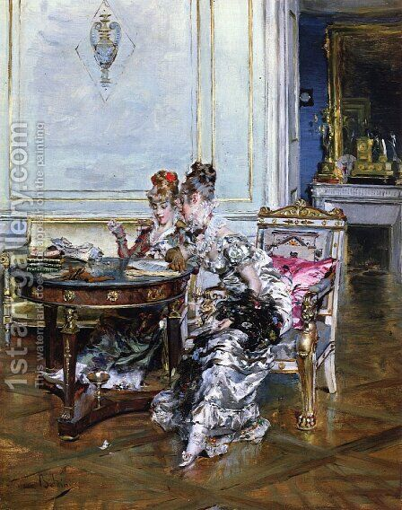 Confidences by Giovanni Boldini - Reproduction Oil Painting