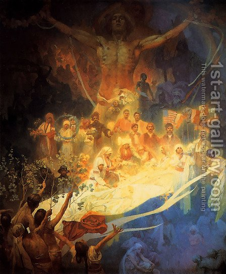 Apotheosis_of_the_Slavs_1926 by Alphonse Maria Mucha - Reproduction Oil Painting