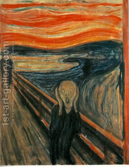 The Scream by Edvard Munch - Reproduction Oil Painting