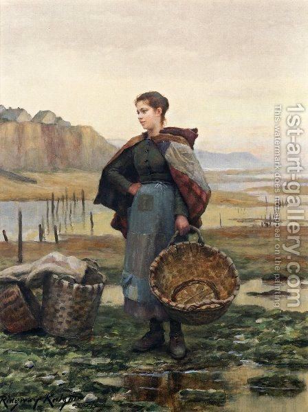 The Young Laundress by Daniel Ridgway Knight - Reproduction Oil Painting