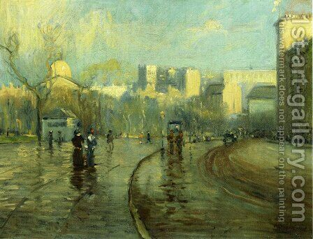 Early Morning, Tremont Street, Boston by Arthur C. Goodwin - Reproduction Oil Painting