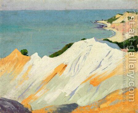 Chalk Hills, Gay Head by Arthur Wesley Dow - Reproduction Oil Painting