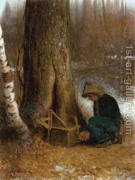 Setting the Trap by Eastman Johnson - Reproduction Oil Painting