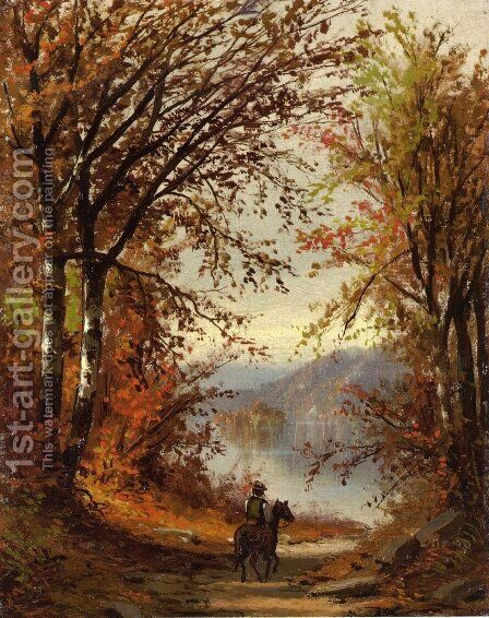 Landscape by Jasper Francis Cropsey - Reproduction Oil Painting
