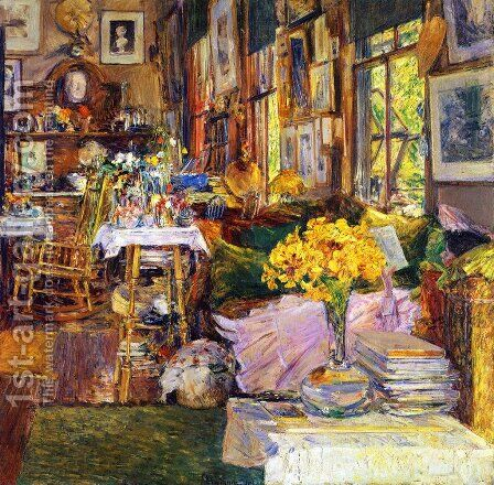The Room of Flowers by Frederick Childe Hassam - Reproduction Oil Painting