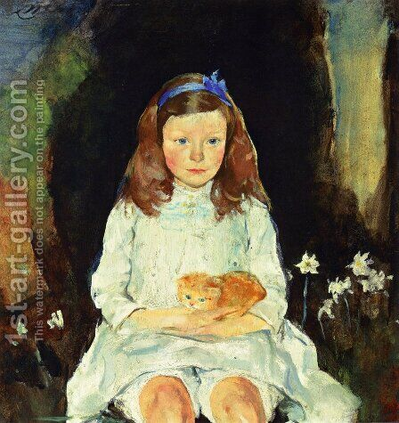 Little Dora by Charles Hawthorne - Reproduction Oil Painting