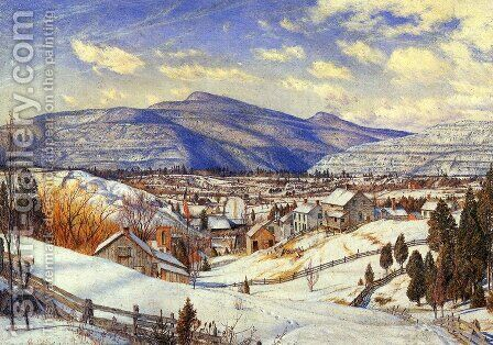 Winter Landscape, Valley of the Catskills by Charles Herbert Moore - Reproduction Oil Painting